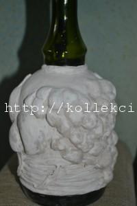 Декор стеклянной бутылки