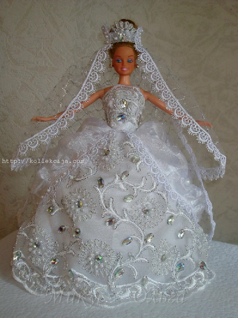 Как сшить для куклы барби с свадебных платьях 451