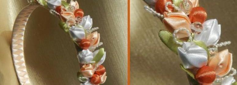 тюльпаны из ленты своими руками