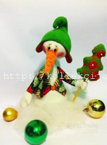 Снеговик из флиса