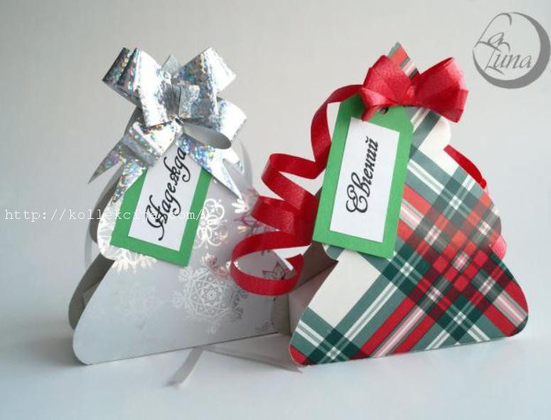 Своими руками новогодние коробки для подарков