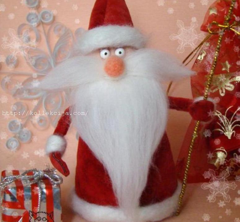Дед мороз легко и просто своими руками 68