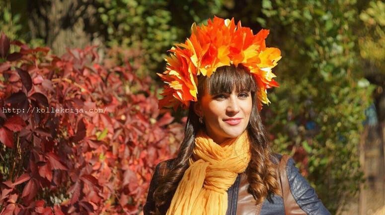 Осенние листья из ткани