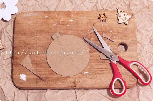 Как сделать кулон своими руками из картона