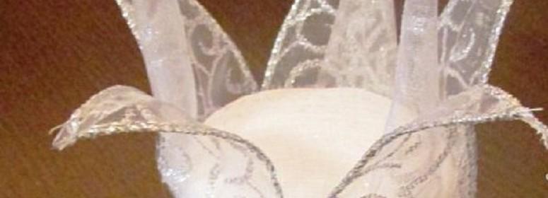 Новогодняя корона из ленты