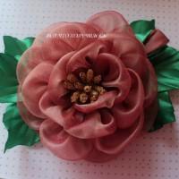 Как сделать розу из органзы