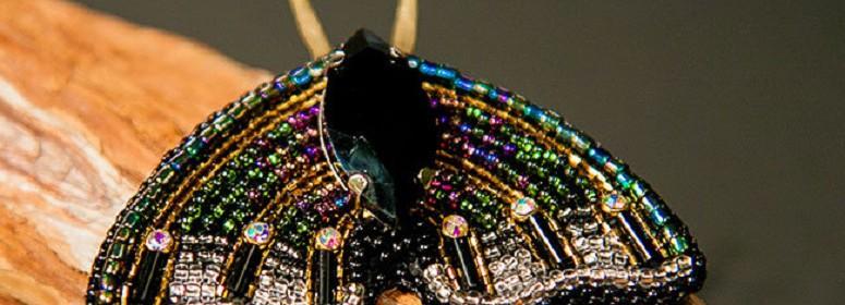 Мотылек из бисера