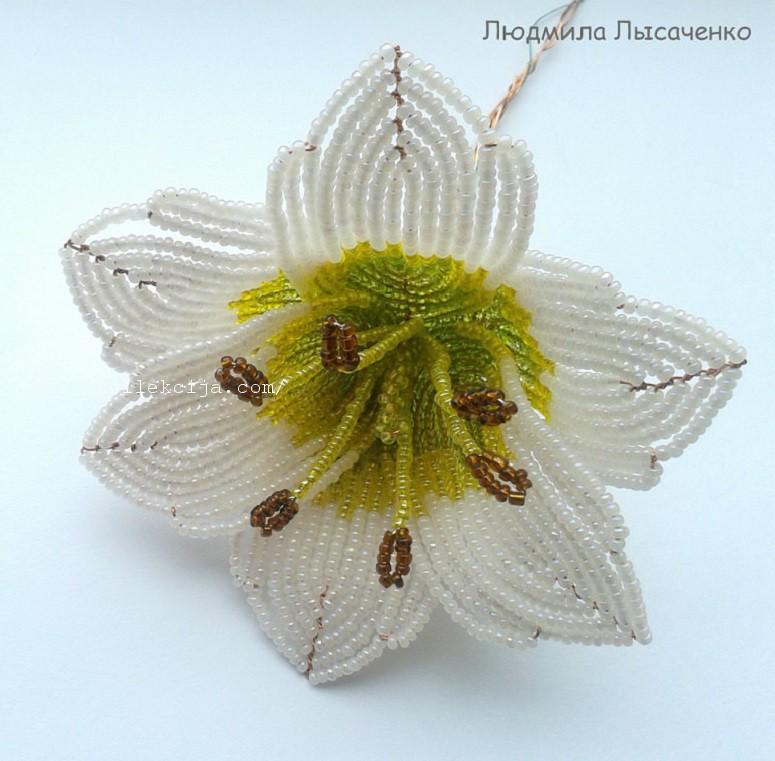 лилии из бисера