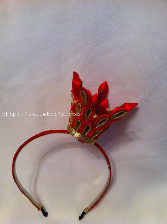 Корона заколка канзаши своими руками