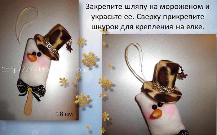 Елочная игрушка мороженое своими руками