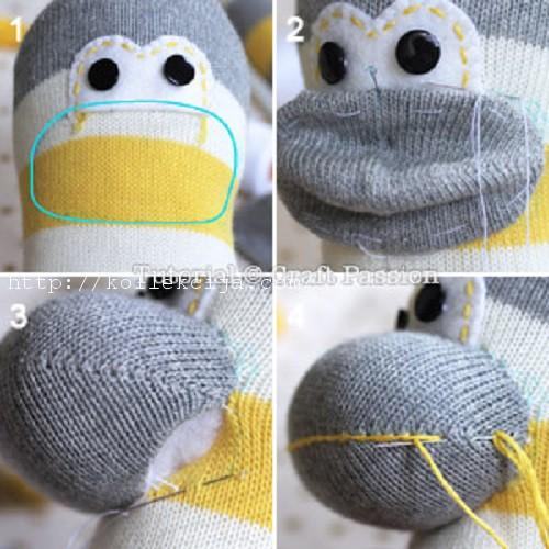 Игрушка своими руками обезьянка из носков