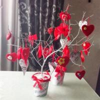 Дерево валентинка