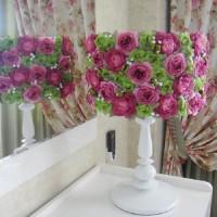 Абажур из цветов