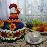 Грелка на чайник Петушок