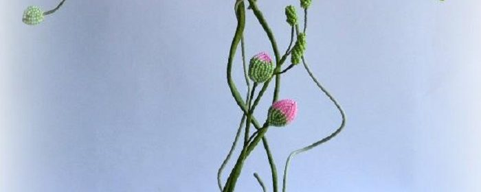 Орхидея из бисера своими руками