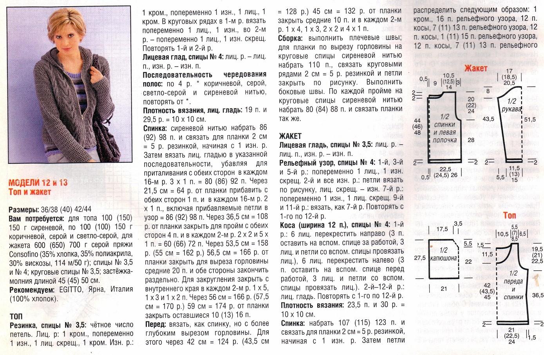 Схема вязания жакетов спицами 99