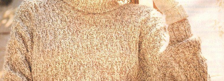Удлиненный свитер спицами