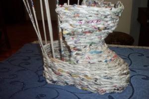 Плетение из газет. Башмачок