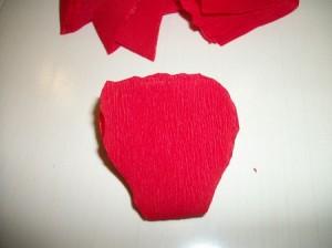 Мак из гофрированной бумаги