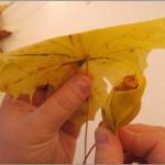 Поделки из опавших листьев
