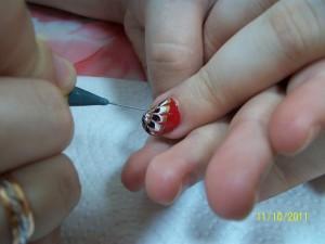 Мокрый дизайн ногтей