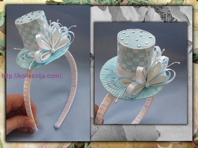 Шляпки из атласных лент своими руками фото 933