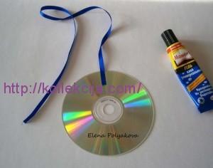 из старых CD дисков
