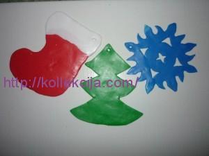 Новогодние игрушки из пластики