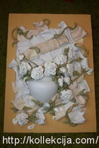 Картины из кожи. Розы.