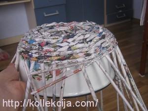 Плетение из газет шкатулки