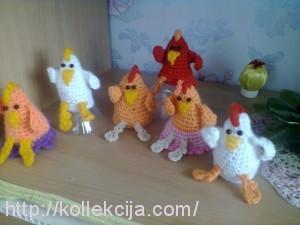 Пасхальные цыплята крючком