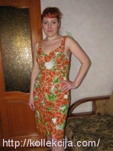 Вязаное платье - ирландское кружево