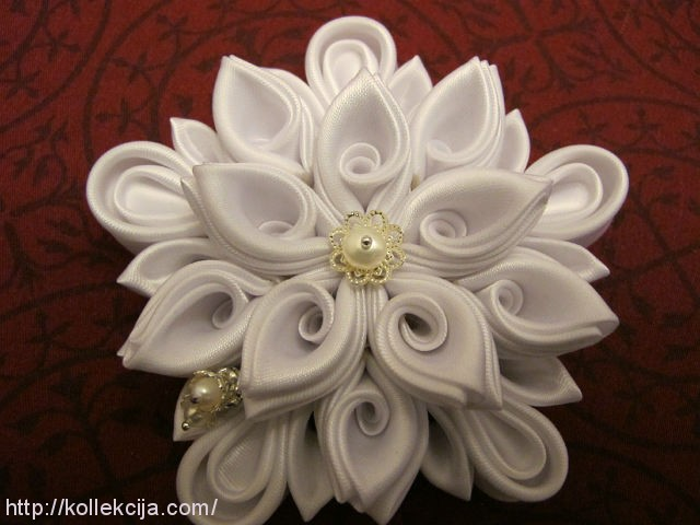 Цветок канзаши. мастер-класс