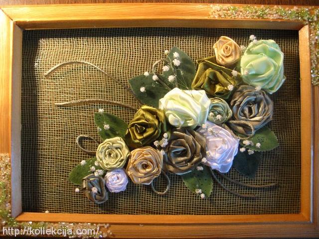Панно с розами своими руками