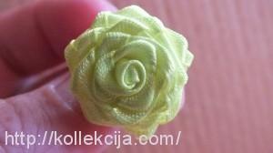 Роза из узкой ленты