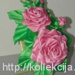 Бутон розы из ленты