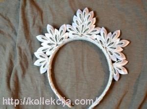 Новогодняя корона канзаши