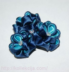 Цветок из ленты 2,5 см