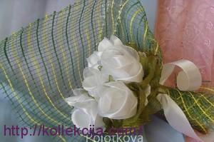 Изготовление розы из ленты