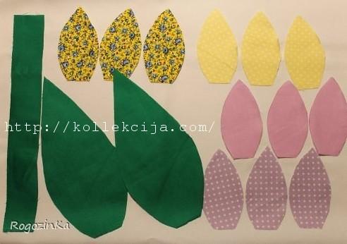 Как сшить тюльпаны из ткани своими руками