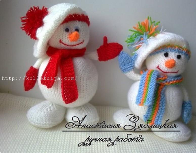 Игрушки своими руками снеговики из 300