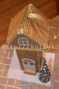 Новогодний домик своими руками