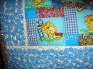 Детское одеяло из лоскутков