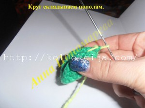 Прихватка Лягушка крючком