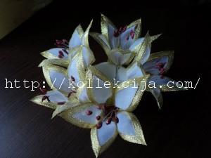 Лилия из ткани своими руками