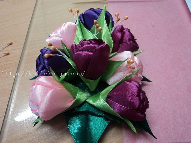 Тюльпаны из ленты своими руками 781