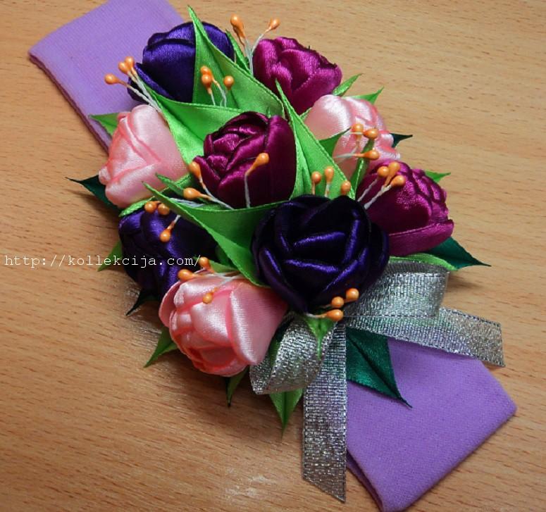 Тюльпаны из ленты своими руками 746