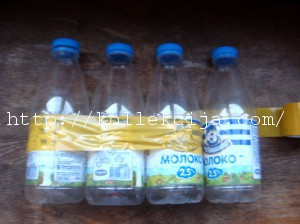 Пуфик на пластиковых бутылках