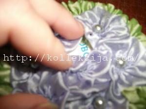 Букет из цветов канзаши