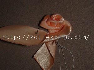 Как вышить лентами розу